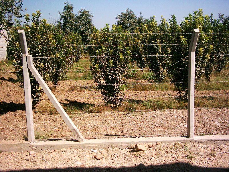 Beton direkli çitler galvanizli tel boru direkli çitler foto galeri